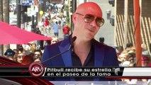 Pitbull recibe estrella en Paseo de la Fama de Hollywood Al Rojo Vivo Telemundo