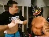 Eddie Guerrero, Rey Mysterio & Booker T Backstage 1/27/05