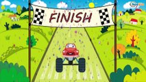 Emergency Vehicles - The Ambulance with Police Cars & Racing Cars - Extreme Racing - Kids Cartoons