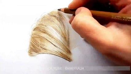 Dessin de cheveux ultra rບ par Emmy Kalia