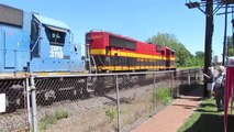 CSX/KCS Trains in Marion Ohio (8/22/15)