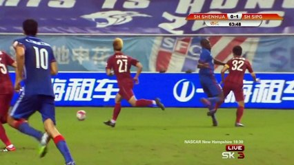 Horrible leg break for Demba Ba in China