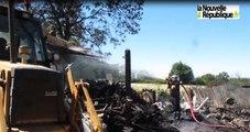 VIDEO. Un bâtiment agricole détruit par les flammes à Montchevrier
