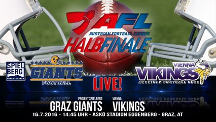 AFL: Projekt Spielberg Graz Giants vs. Vienna Vikings - 17.7.2016