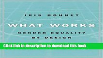 Read What Works: Gender Equality by Design  Ebook Free