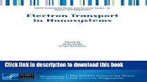Read Electron Transport in Nanosystems (NATO Science for Peace and Security Series B: Physics and