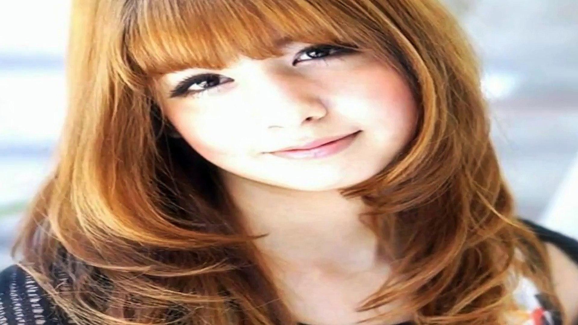 20 Bonito e Fácil de Longa Cortes de cabelo em Camadas com Franja
