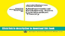 Read Mathematical Problems from Combustion Theory (Applied Mathematical Sciences) (v. 83)  PDF