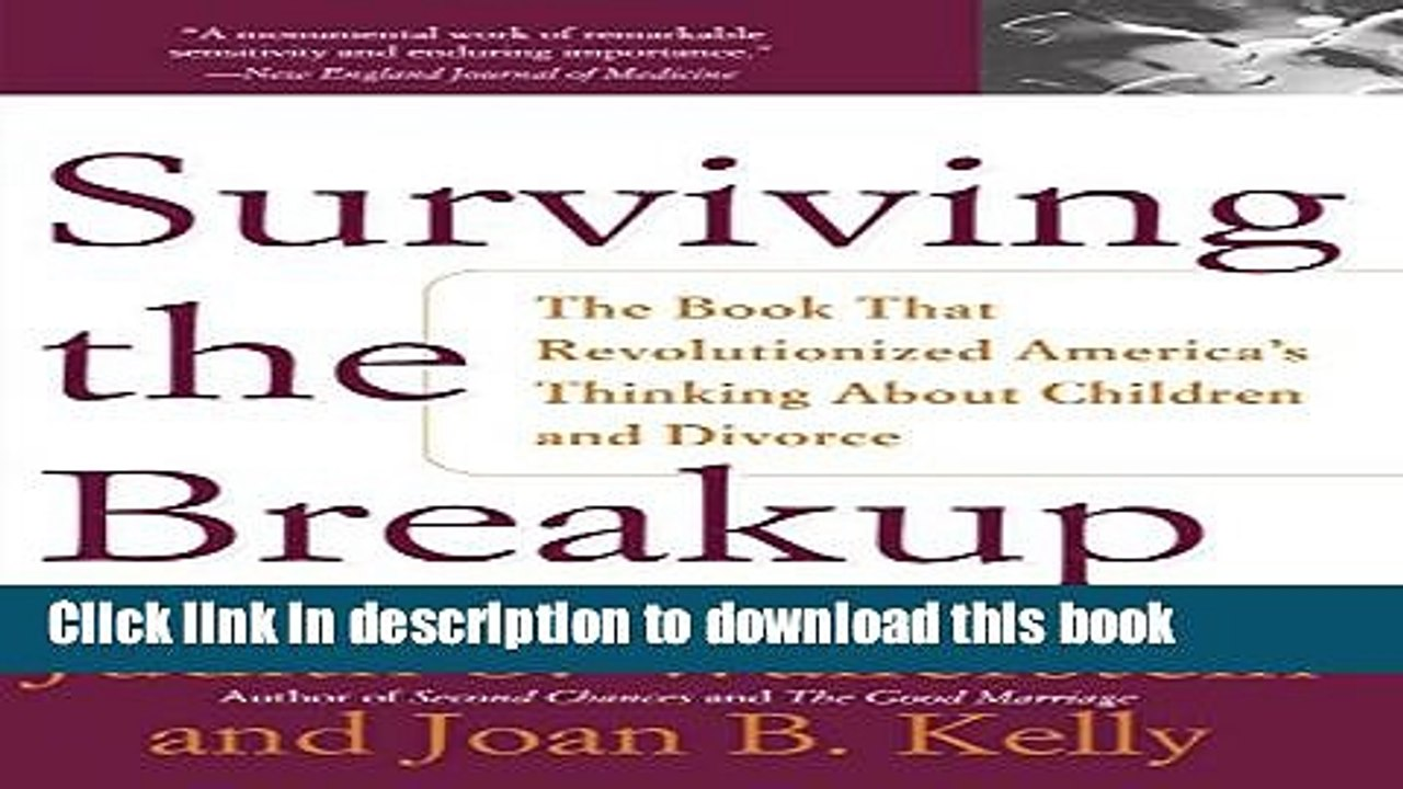 Read Surviving The Breakup: How Children And Parents Cope With Divorce PDF  Free