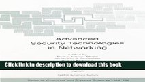Read Advanced Security Technologies in Networking, Vol. 1 (NATO-Computer and Systems Sciences,