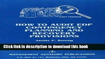 Read How to Audit Edp Contingency Planning and Recovery Provisions  Ebook Free