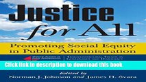 Read Justice for All: Promoting Social Equity in Public Administration (Transformational Trends in