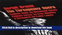 Download The Threepenny Opera Ebook Free