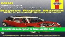 [PDF] Mini Cooper, Cooper S, Clubman   Clubman S: 2002 Through 2011 (Haynes Repair Manual)