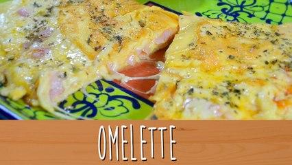 Omelette de Jamón y queso   Comamos Casero