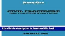 PDF [FREE] DOWNLOAD Civil Procedure MBE Practice Questions