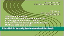 [PDF]  Samuel Hahnemann s Organon of Homoeopathic Medicine: Third American Edition  [Download]