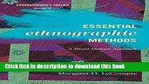 [PDF] Essential Ethnographic Methods: A Mixed Methods Approach [Download] Full Ebook