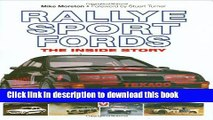 [PDF] Rallye Sport Fords: The inside story Download Full Ebook