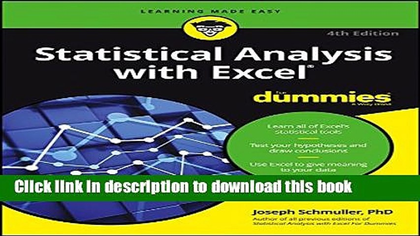 Download Statistical Analysis with Excel For Dummies PDF Online