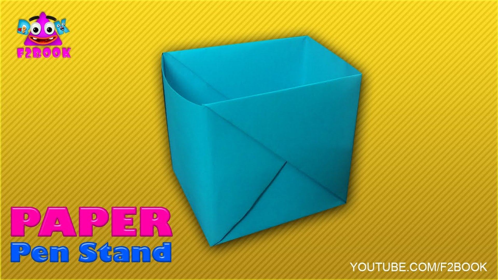 How To Make Paper Pencil Holder (Box) | Origami Pen Stand … | Flickr | 1080x1920