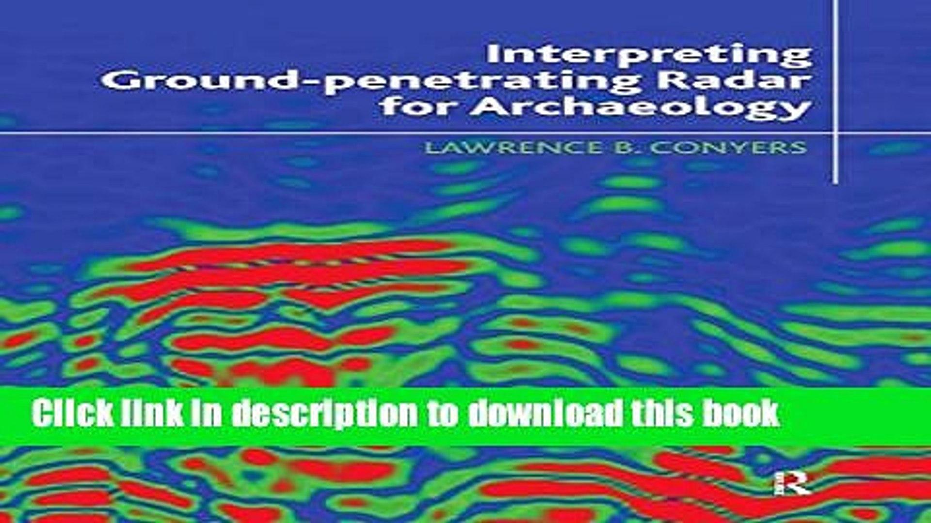 Read Books Interpreting Ground-penetrating Radar for Archaeology ebook  textbooks