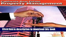 PDF California Real Estate Property Management  EBook