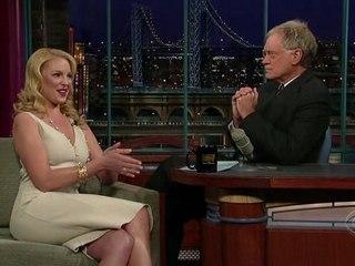 Katherine Heigl at Letterman