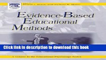 Read Evidence-Based Educational Methods (Educational Psychology)  Ebook Free