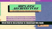 Download MIPS RISC Architecture (2nd Edition) Ebook Free