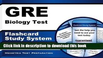 Read Book GRE Biology Test Flashcard Study System: GRE Subject Exam Practice Questions   Review