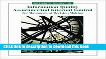 [PDF] Information Quality Assurance and Internal Control for Management Decision Making Read Online