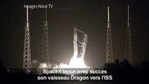 SpaceX lance avec succès son vaisseau Dragon vers l'ISS