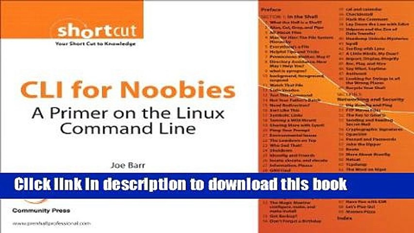 PDF] CLI for Noobies: A Primer on the Linux Command Line (Digital Short  Cut) Read Online - video dailymotion