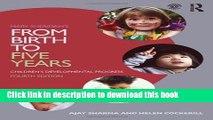 Read Mary Sheridan s From Birth to Five Years: Children s Developmental Progress  PDF Online