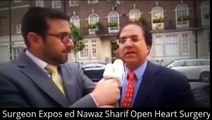 Watch Cardiac Surgeon Expos-ed Nawaz Sharif Open Heart Surgery In Front Of Hospital At London
