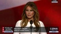 Melania Trump copie le discours de Michelle Obama