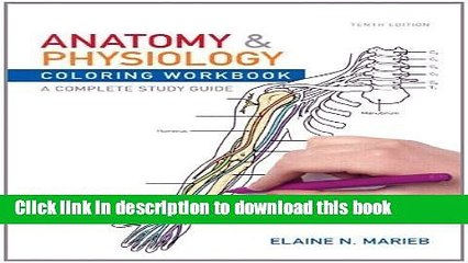 Download Books Anatomy and Physiology Coloring Workbook: A Complete Study  Guide by Marieb, Elaine