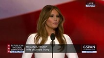 Melania la femme de Donald Trump copie le discours de Michelle Obama