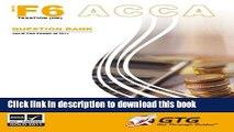 [PDF]  ACCA - F6 (UK) Taxation: ACCA-F6(UK)-QB: Question Bank  [Read] Online