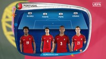 Renato Sanches starts for Portugal. See their lineup against Poland