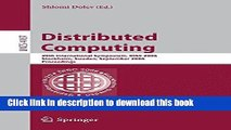 Read Distributed Computing: 20th International Symposium, DISC 2006, Stockholm, Sweden, September