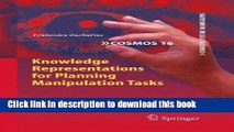 Read Knowledge Representations for Planning Manipulation Tasks (Cognitive Systems Monographs)