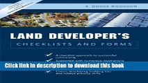 Read Residential Land Developer s Checklists and Forms  Ebook Free