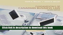 Read Fundamentals of Canadian Business Law, 2nd Ed. with iStudy Access Card Ebook Free