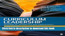 Download Curriculum Leadership: Strategies for Development and Implementation PDF Online