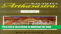 Read The Kautiliya Arthasastra (3 Vols.) (vol.1 in Sanskrit, vols. 2   3 in English) (Pt. 1-3)