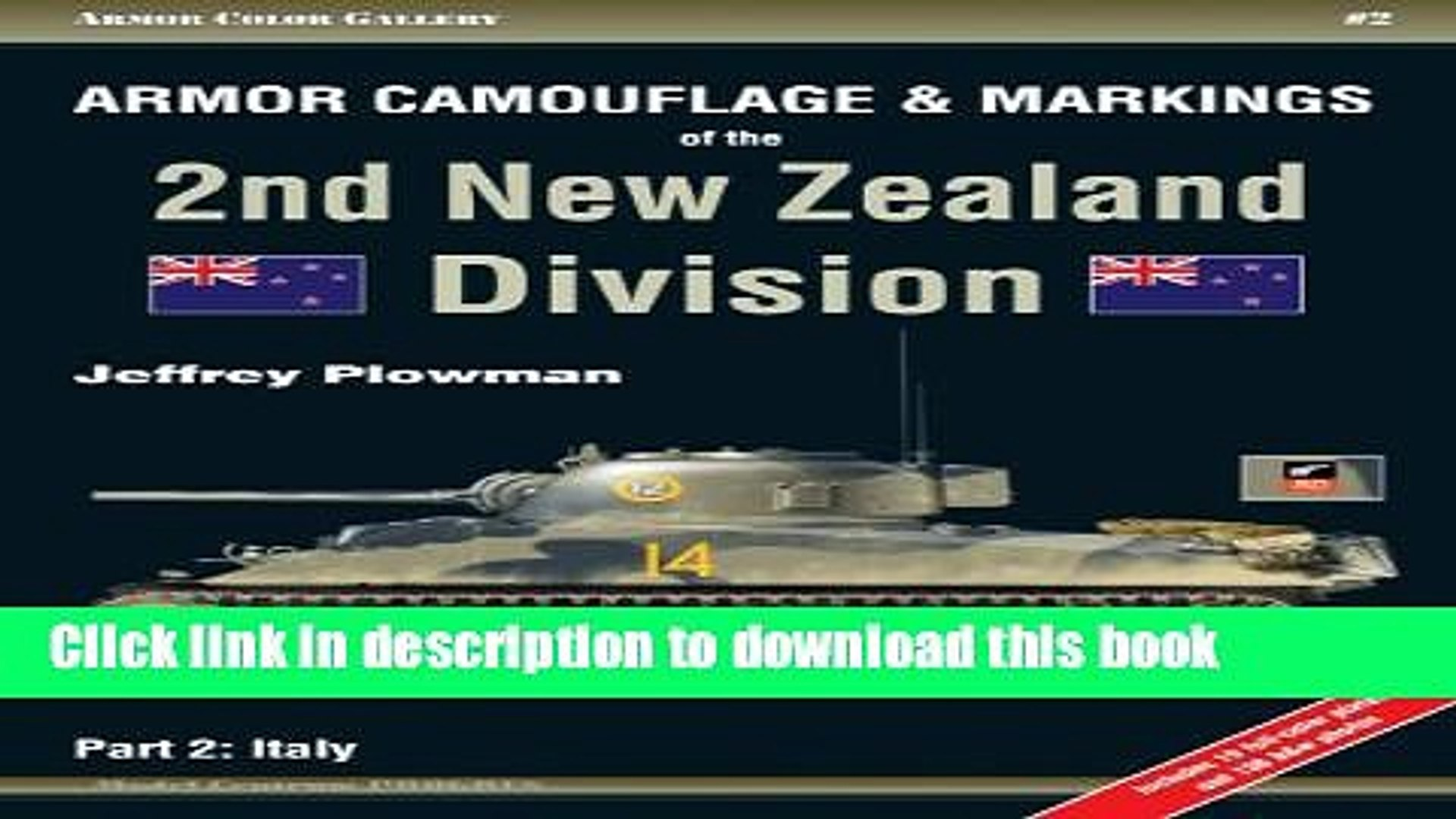 Read Books Armor Camouflage   Markings of the 2nd New Zealand Division, Part 2: Italy - Armor