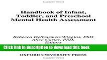 Download Book Handbook of Infant, Toddler, and Preschool Mental Health Assessment E-Book Download