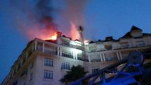 Pau : incendie au-dessus de l'Aragon sur le boulevard des Pyrénées